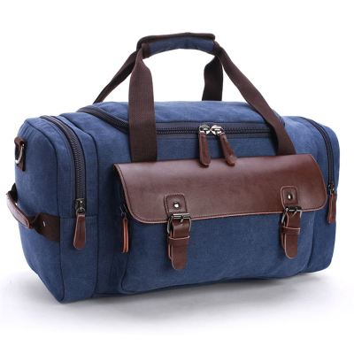 Mens Waterproof new high quality Casual fashion travel bags new Genuine leather Duffle bag Pure color large capacity handbag