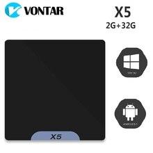 VONTAR X5 Mini PC Atom x5-Z8350 Processor Support for Windows 10 & Android 5.1 2GB 32GB Bluetooth 4.0 1000M LAN 2.4G Wifi TV Box