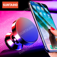 Suntaiho Magnetic Phone Holder Car For Samsung Magnet Mount Car Holder for iphone x 8 7 huawei For Phone in Car Magnet Stand