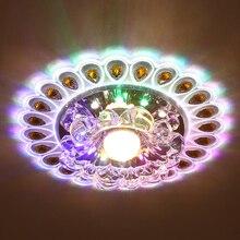 Светодиодный 5 Вт Светодиодный светильник с кристаллами, яркий светильник для гостиной, потолочный светильник, люстра, декоративный светильник