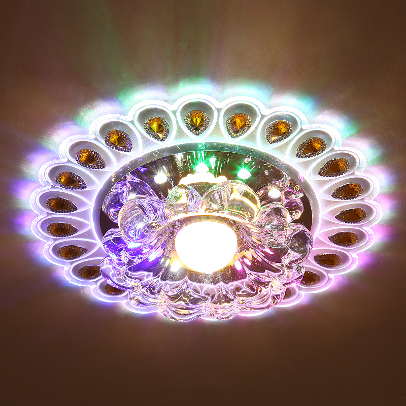 Led 5W Crystal LED Colorful Lighting Living Room Ceiling Fixture Chandelier Decor Light