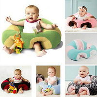 Infant Baby Support Seat Soft Cotton Travel Car Seat Pillow Cushion Toys Plush Toys 0 2Year
