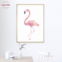 Watercolor Flamingo Canvas Art Print Poster Wall Pictures For Home Decoration Giclee Print Wall Decor S16020
