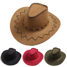 Men Women Fashion Cowboy Hat  Vintage Wide Brim Headwear Cap Western Cowboy Hat Fashion Jazz Cap Spring & Summer Hat ethnic style western cowboy hat women s wool hat jazz hat western cowboy hat new