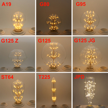 A19 ST64 G80 G95 G125 Wine Bottle LED Bombilla Edison Lamp E27 Vintage Bulb Light Lampada Edison Bulb Retro Lamp Ampoules Decor 3d fireworks retro edison bulb 4w e27 g125 led light home bar decor lighting colorful glass globe lamp 420lm ac85 265v