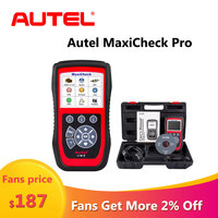 Autel MaxiCheck Pro Diagnostic Tool OBD2 Auto car Scanner Automotivo Code Reader Car Diagnostic Tool Scanner Automotriz Support
