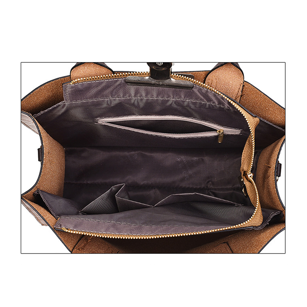 ad8b83b03d4 Herald Fashion Women Bags Set 3 Pcs Leather Handbag Women Large Tote Bags  Ladies Shoulder Bag Handbag+Messenger Bag+Purse