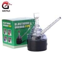 GERUI Yüksek Kalite Füme Elektrikli Shisha Nargile Herb Tütün Ot Narguile Sigara Boru Akrilik Cam Tüp Su Boruları