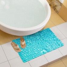 42x72CM Blue PVC Bath Mat Non-Slip Sucker Cup Massage Shower Mats Bathroom Carpet Rug Child Baby Bath Pad