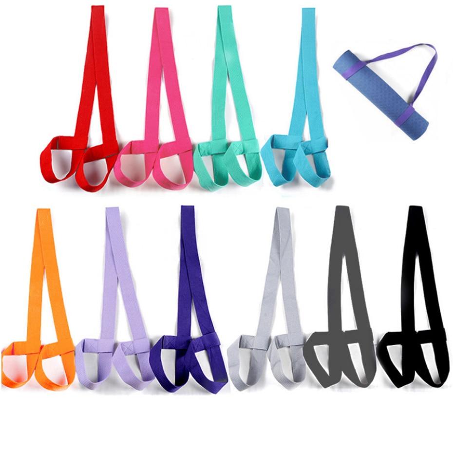 YINGTOUMAN Yoga Adjustable Shoulder Strap Yoga Mat Band Carrier Shoulder Carry Belt Exercise Stretch Carry Sling Yoga Mat Strap