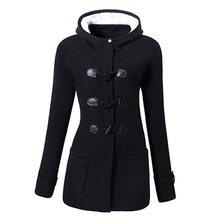 Sisjuly Casual Plus Size Winter Warm Black Gothic Women Jackets Slim Overcoat Hooded Office Ladies Zipper Pocket Female Outwears все цены