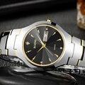 Man's Tungsten Steel Watch Hardlex Watch Mirror Quartz Strap 200M Waterproof Watch For Man Fashion Luxury Quartz Watch