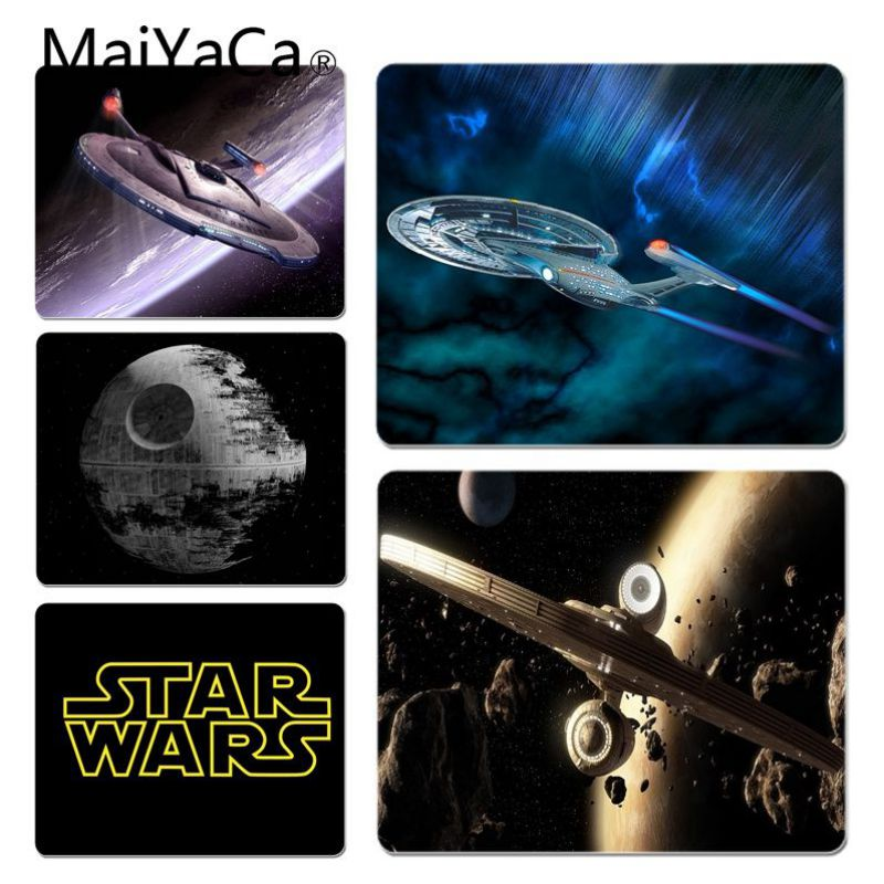 MaiYaCa StarWars Ship Unique Desktop Pad Game Not Lockedge Mousepad Size for 25x29x0.2cm Gaming Mousepads image