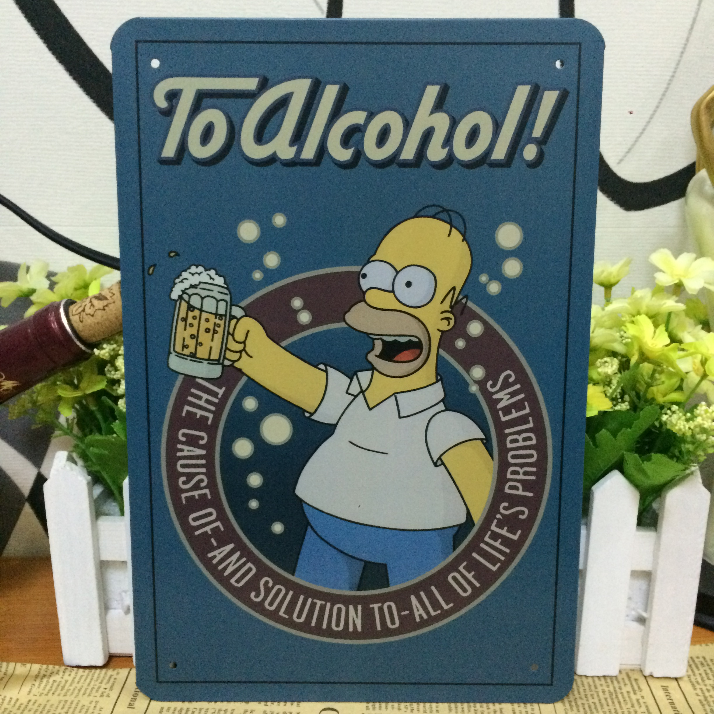 Buy now Simpsons American style To alcoho vintage metal tin sign
