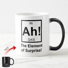 Funny Periodic Elements Magic Mug Geek Ah the Element of Surprise Coffee Mugs Tea Cups Geek Creative Element Birthday Gift Nerd