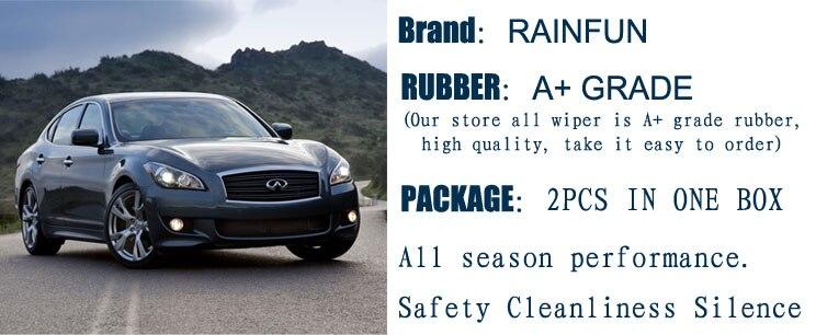 RAINFUN специализированное лезвие стеклоочистителя для INFINITI QX4(97-03), 22+ 21 дюймов автомобильный стеклоочиститель с высококачественной резиной, 2 шт. в партии