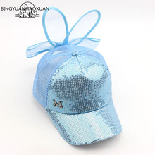BINGYUANHAOXUAN Brand New Summer Children Kids Rabbit Ears Bow Cap Baseball Hat For Girls Adjustable Snapback Casquette