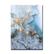 MYT Abstract Blue Color Chinese Style Art Painting Modern Home Wall Decoration Handmade Oil Painting Canvas Wall Art(China)