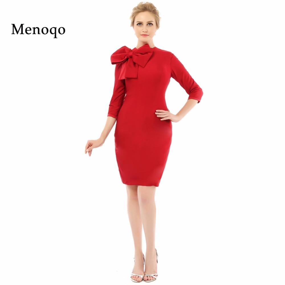 Vestidos madre de la novia Red Sheath With Sleeves New Arrival Evening Formal Dress 2019 Real Mother Of The Bride Dresses Short