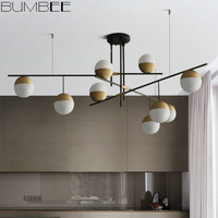 Designer Nut Glass Ball Chandelier Lights Post modern Luxury Living Room Hanging Lamp Luminaire Suspendu Led Lighting Decor Home