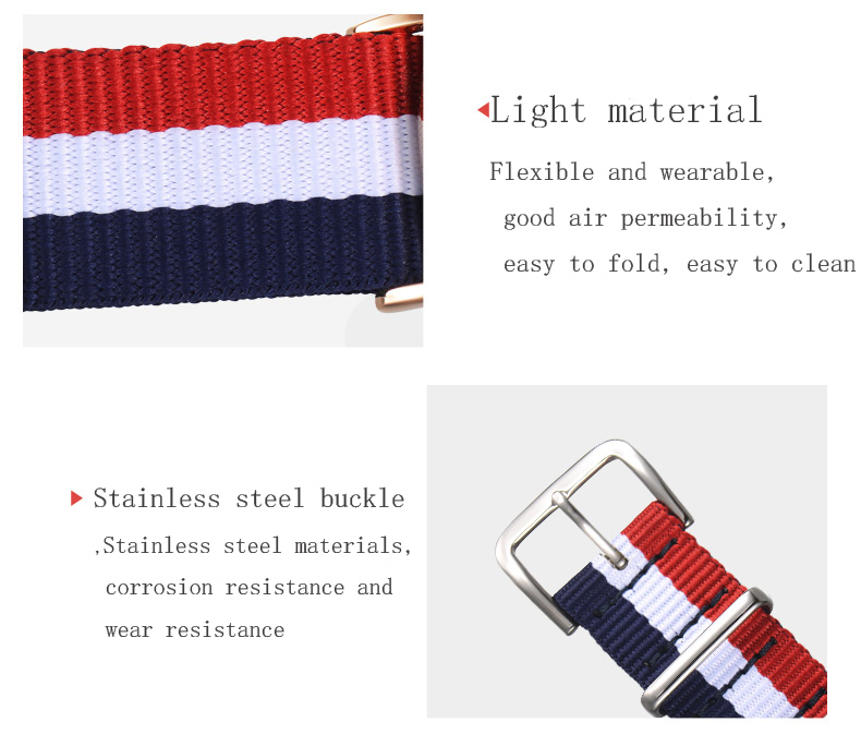 22mm Watchbands Mens Women Navy White Army Military Sports Watch Nato Fiber Woven Nylon Straps Wristwatch Bands Buckle 22 mm in Watchbands from Watches