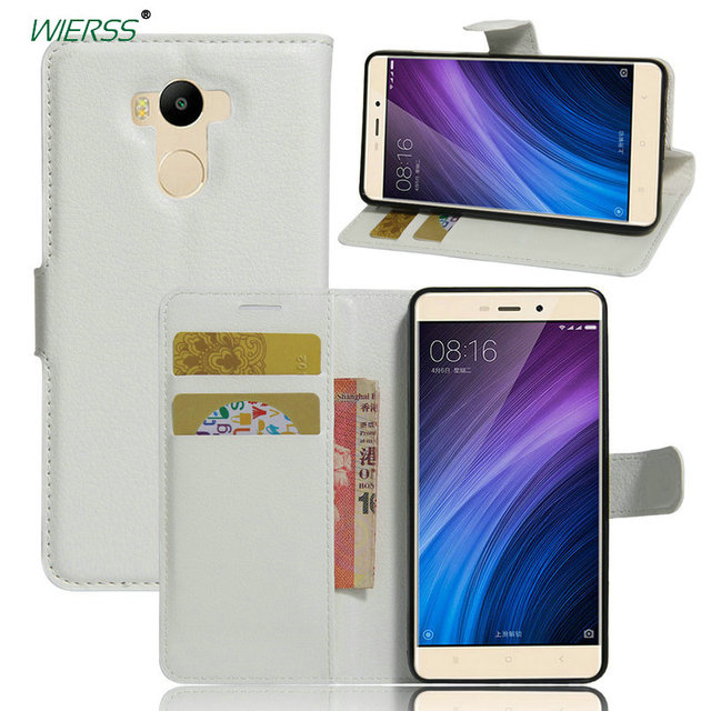 online store 239b0 3ee83 US $3.47 30% OFF|Wallet Flip Leather Case For Xiaomi Redmi 4 pro prime high  version 3GB RAM 32GB phone Leather back Cover case with Stand Etui>-in ...