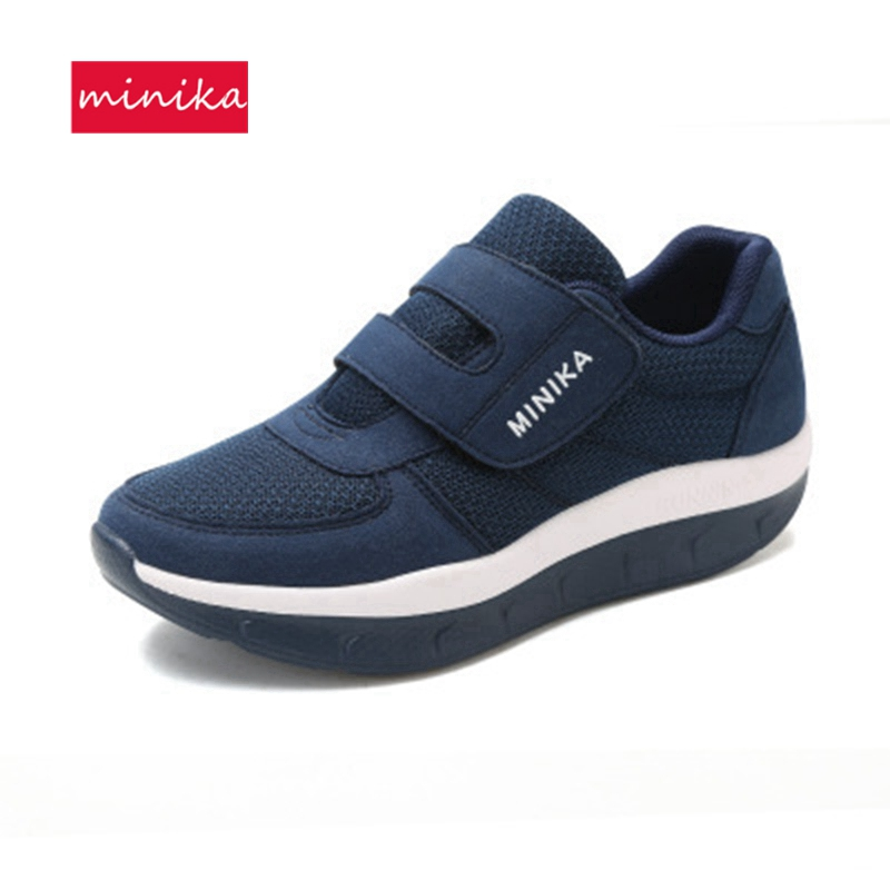 Toning Shoes Women Breathable Size42 Wedge Loop Mesh Soft-Heel Anti-Slip Female Large
