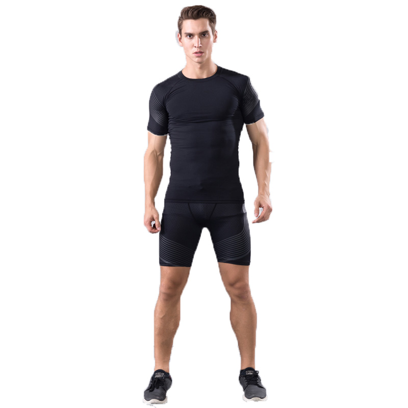 Brand T Shirt shorts Men Compression Tights Underwear Sets Crossfit