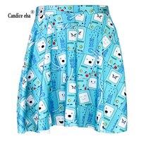 קנדיס ELSA חצאיות אישה דפוס דיגיטלי חם סיטונאי פיקניק כחול מתוק חצאית חצאית skt1056