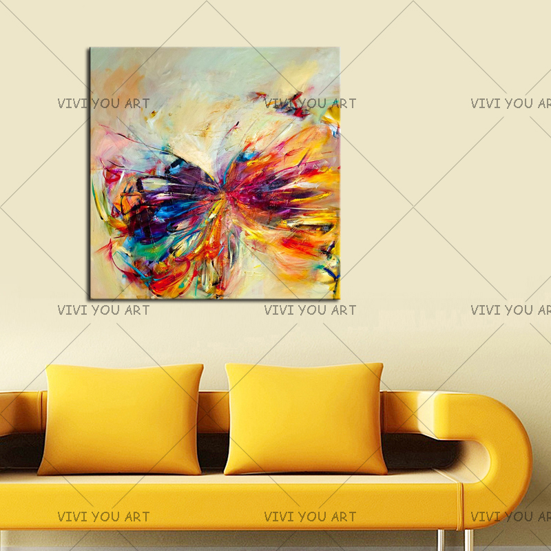 Pintura al óleo sobre lienzo arte de la pared decorativa abstracta - Decoración del hogar - foto 3