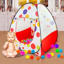 Large Portable Baby Play Tent Kids Indoor Outdoor Tents Foldable Ocean Ball Game House Children's Room Toys For Children цена