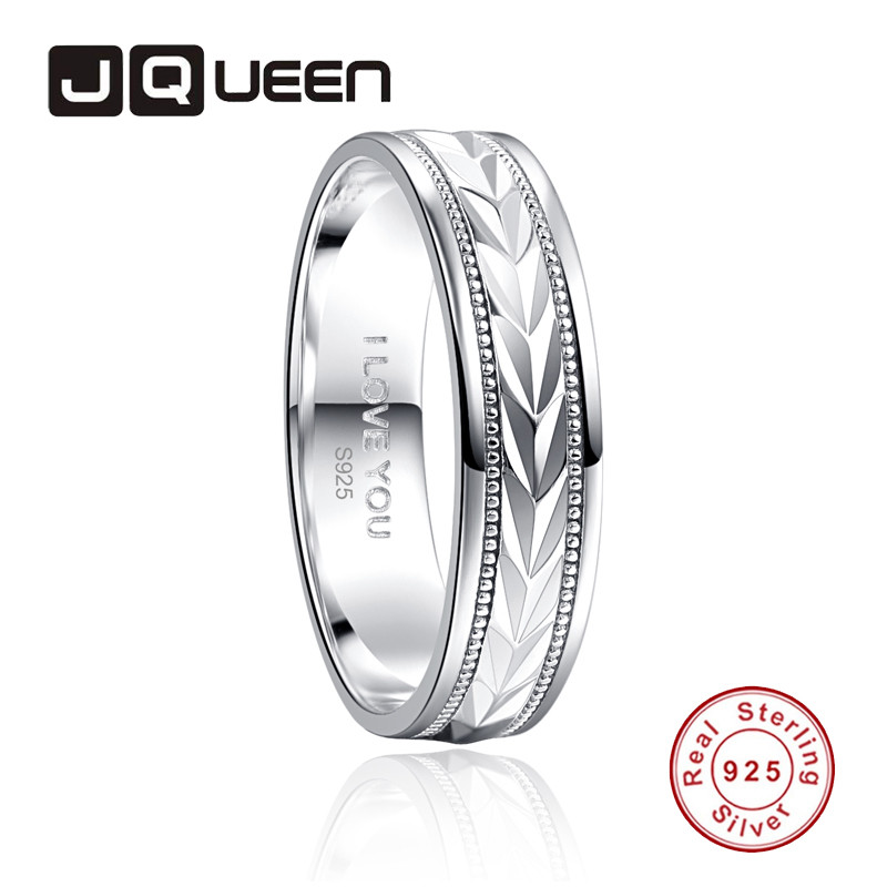 JQUEEN 6MM Ring Circle Inside I LOVE YOU Ring 925 Jewelry Pave Setting Crystal Jewelry Bijoux Femme