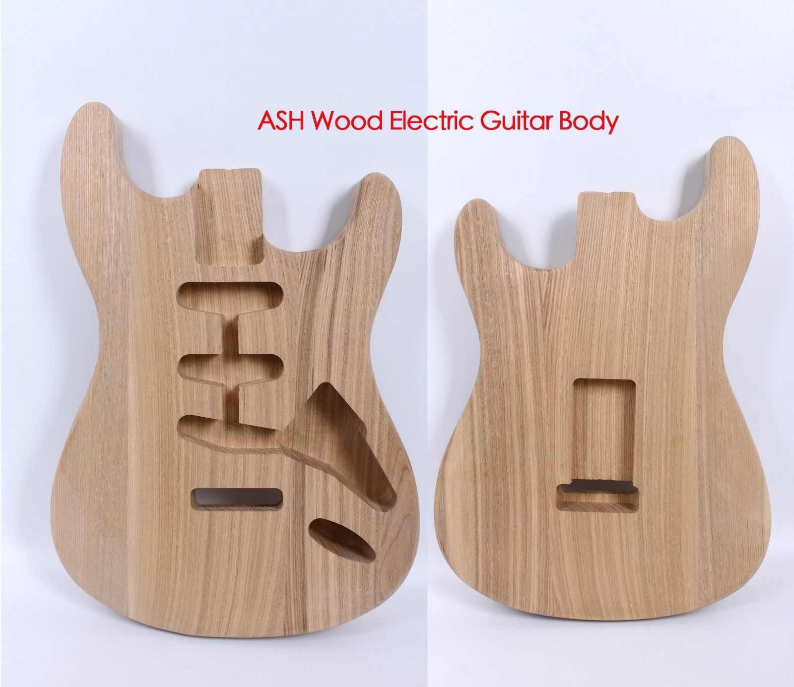 Yinfente Strat Electric guitar body Replacement ASH wood Guitar Accessories SSS Style
