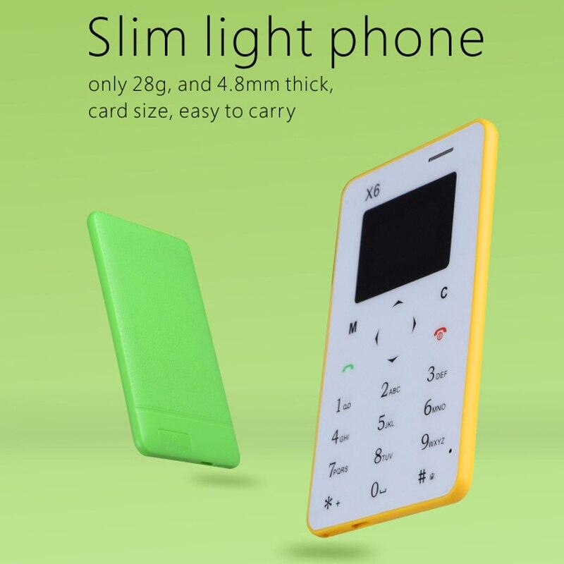 <font><b>Aiek</b></font> X6 итальянский, арабский голландский FM радио ультратонкие как динамик bluetooth 3,0 Dialer вибрации мини карты мобильного телефона P026