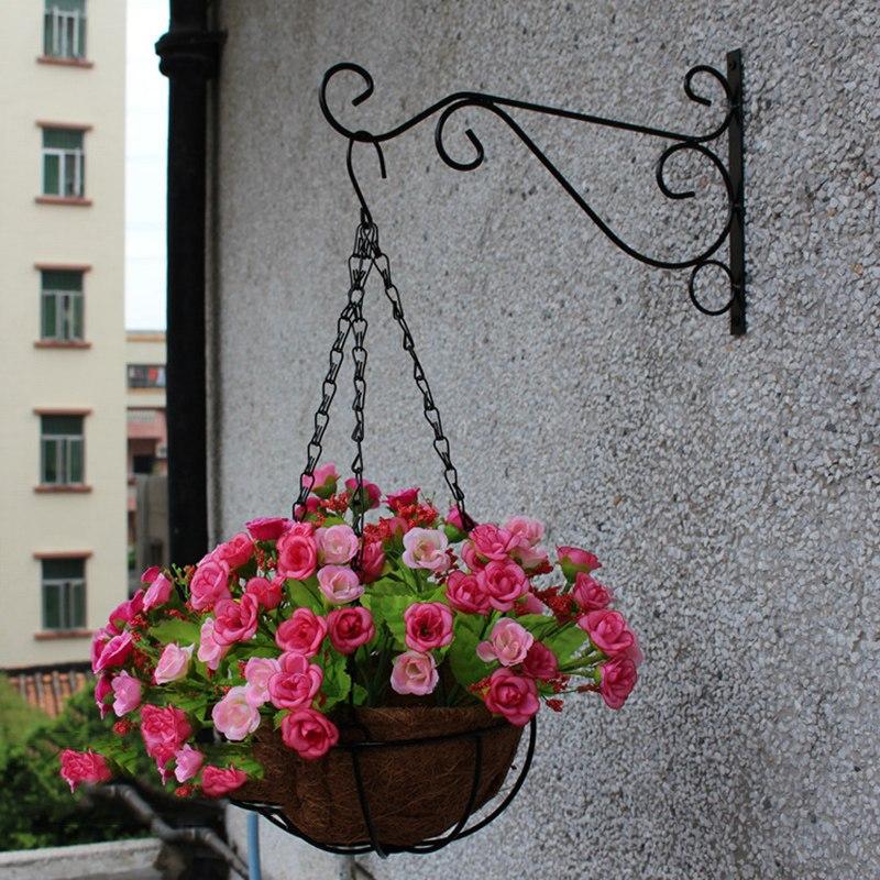 plant hanger iron balcony railings railings garden wall hook hanging plant plant hook shelf. Black Bedroom Furniture Sets. Home Design Ideas