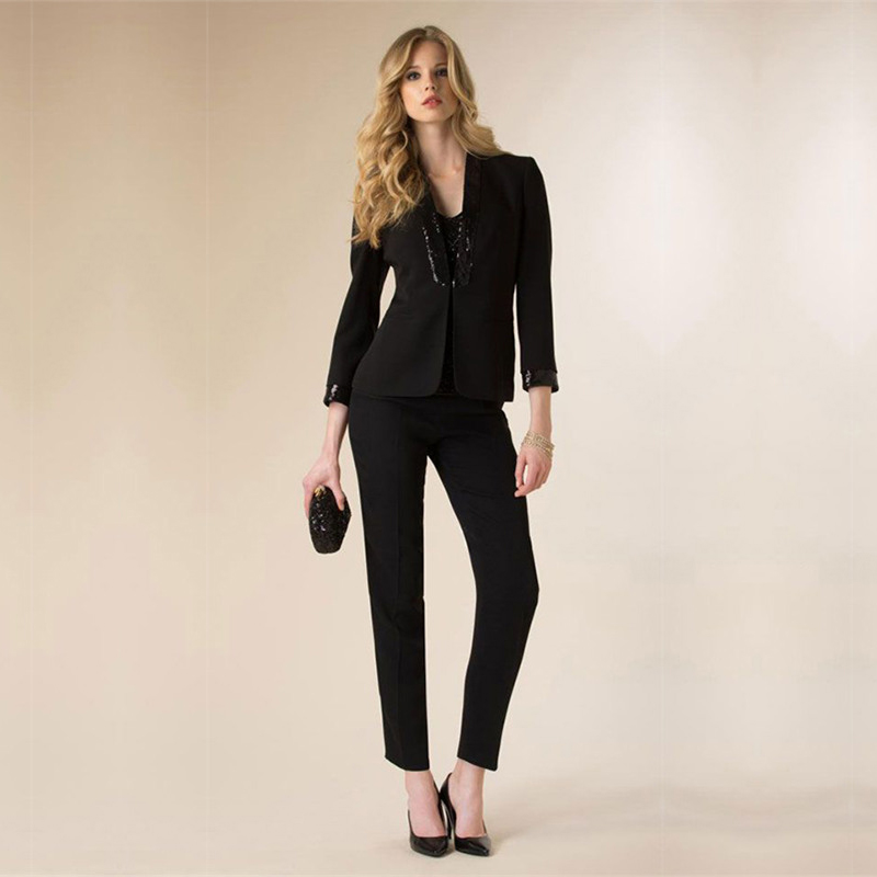 Jacket+Pants Womens Business Suit Slim Fit Female Office Uniform Ladies Formal Trouser 2 Piece Suits Single Breasted Custom Made