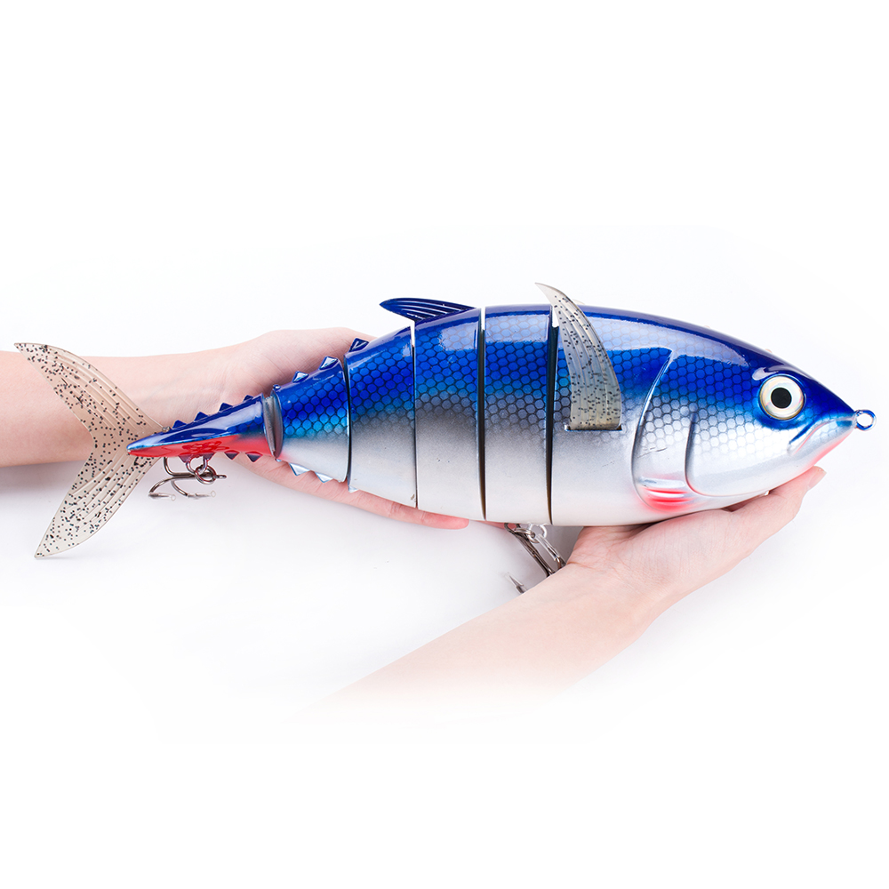 40cm 1027g 6-segement Isca Artificial Pike Lure Muskie Fishing Lures Swimbait Crankbait Hard Bait Fishing Accessory