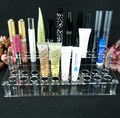Transparent case acrylic pen rack Square two layers lip color lipstick display cosmetics stand makeup cosmetic display shelf