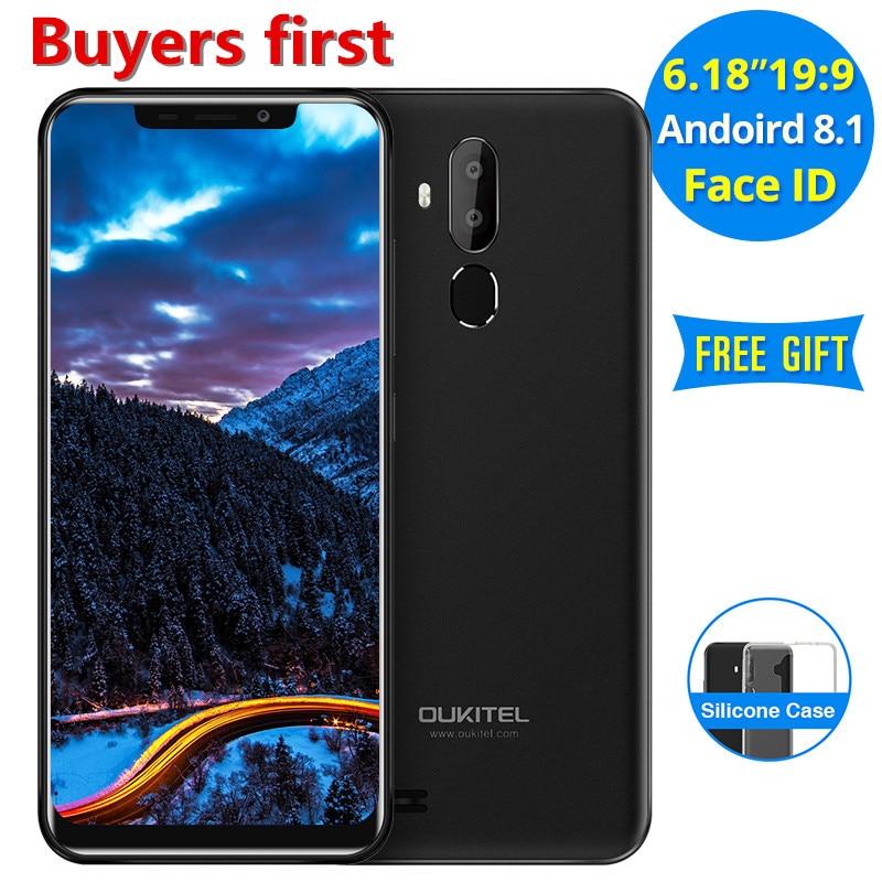 """2018 Original OUKITEL C12 Pro 6.18""""FHD 19:9 Android 8.1 Mobile Phone MT6739 Quad Core 2GB RAM 16GB ROM 3300mAh 4G LTE Smartphone"""