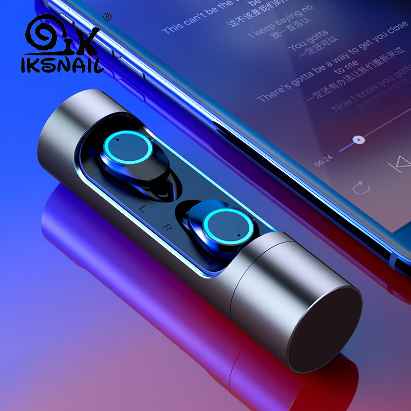 $34.51 | IKSNAIL New Bluetooth 5.0 Wireless Earphone Deep bass Earbuds Waterproof Headsets With Charging Box For Apple iPhone Xiaomi Sony