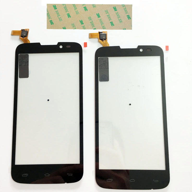 New Touchscreen Sensor Glass Panel For Prestigio MultiPhone PAP 5517 PAP5517 DUO Touch Screen Digitizer Front Glass +3M Sticker