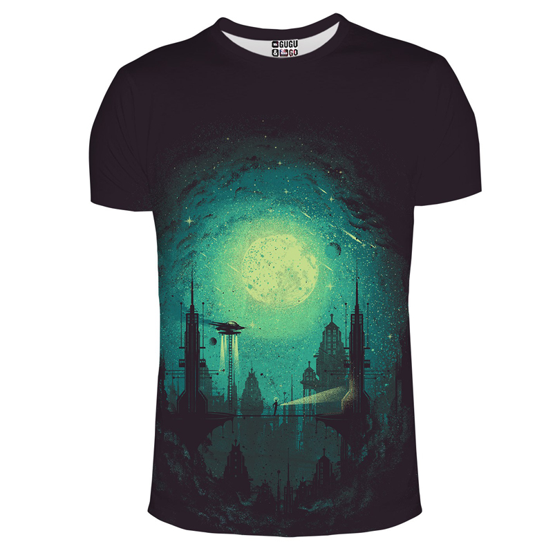 2017 new mens t shirt fashion 3d outer space milky way for Outer space clothing