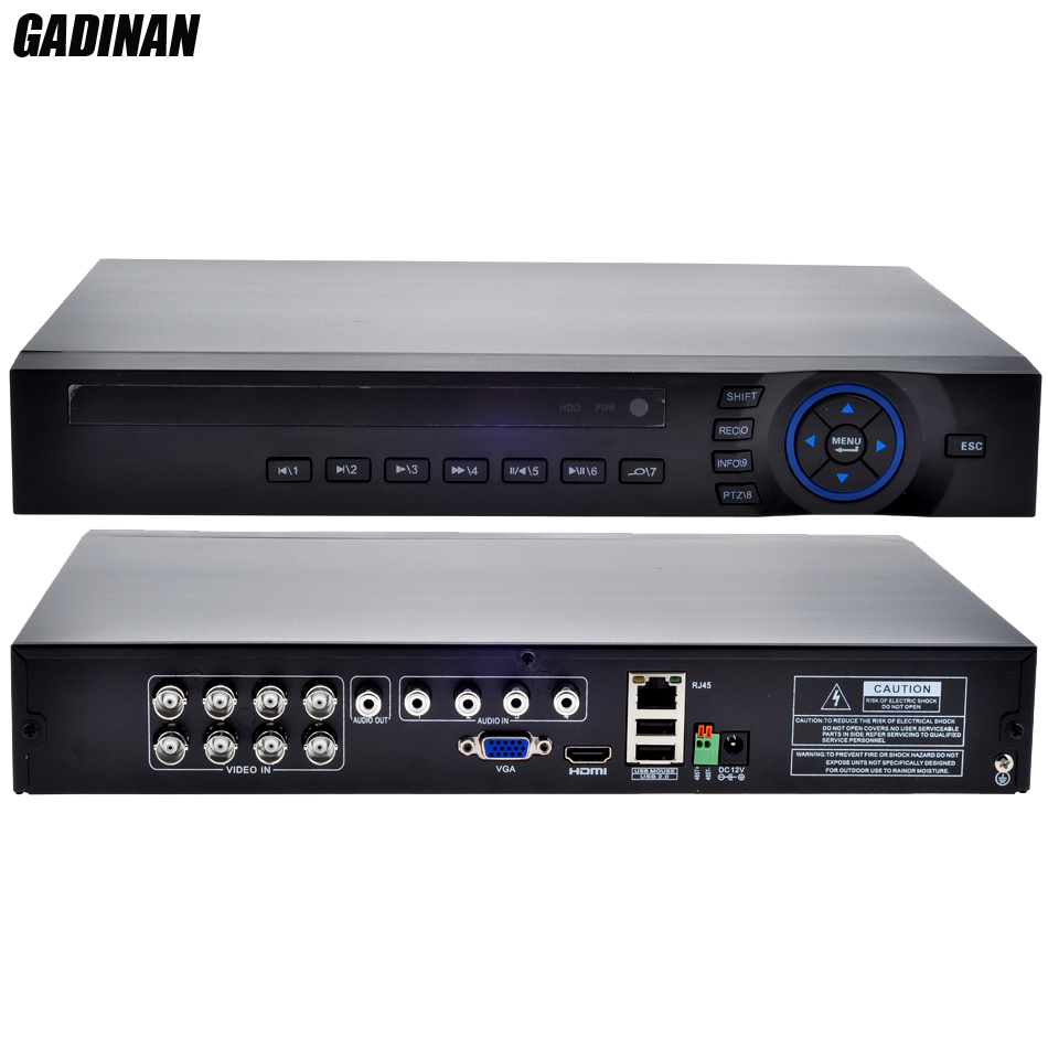 GADINAN AHD 8CH 1080N DVR/Hybrid:4*1080N(analog)+4*960P(network)/Network only:16*1080P;4*5M AHD TVI IP 4 in 1 Support ONVIF multifunctional ahd 1080n dvr hybrid