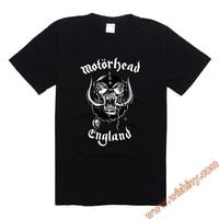 Motorhead England T Shirt Men Balck Rock Heavy Metal Band Tee Shirts