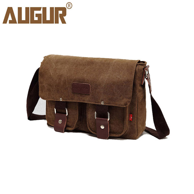 AUGUR 2018 Canvas Messenger Bag Male Shoulder Crossbody Bags Casual  Travelling One Side Bag For Men Vintage Bag High Quality 10f259d329306