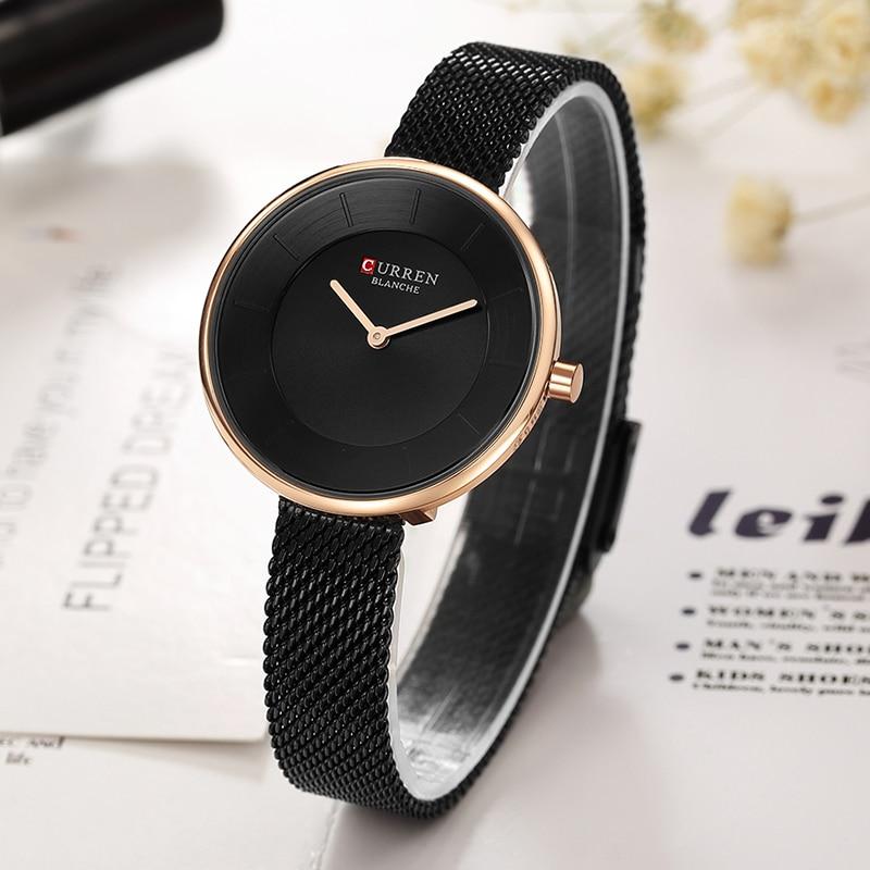 2018 CURREN New Women Watches Luxury Brand Women Dress Quartz Watch Creative Dial Fashion Girl Clock curren 03