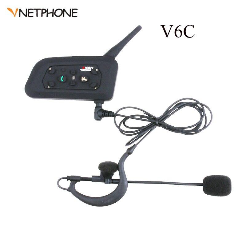 Vnetphone Football Soccer Referee Headset Referee Intercom 1200M Headset Wireless BT Interphone Earpiece