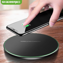 JK63 Universal Qi Wireless Charger 9V Fast Charging For Samsung Galaxy Note 8 S7 Edge S6 S8 Plus USB Charging Pad For iPhone X 8