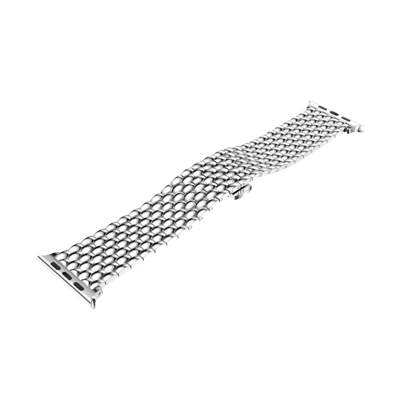 Купить с кэшбэком ZENHEO Stainless Steel Metal Watch Band Replacement for Apple Watch Series 3 2 1 Band with Butterfly Buckle Sport 38/42mm strap