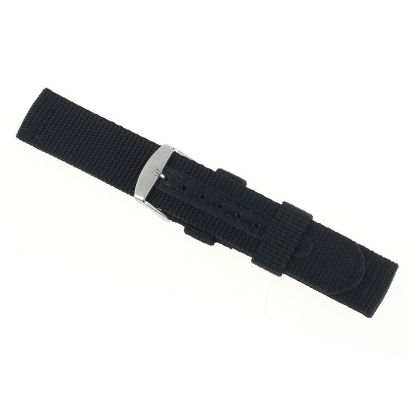 fabulous 2016 20mm Nylon Wrist Watch Band Strap For Watch Stainless Steel Buckle fabulous stainless steel mesh watch band pin buckle high quality 20 22 24mm watch strap for men women wrist watch replacement
